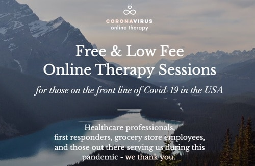 Low cost online therapy