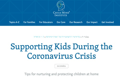 Supporting Kids during Civid19 crisis
