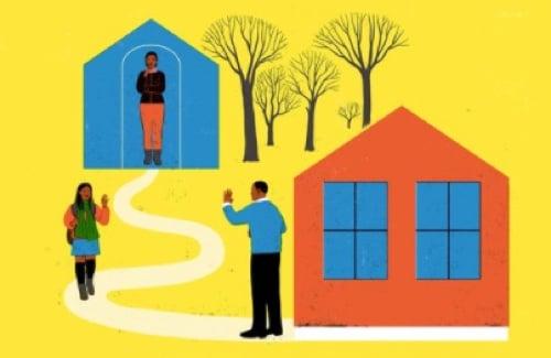 Divorcee distancing children